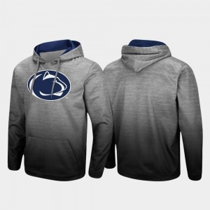 College Hoodie For Men's Penn State Nittany Lions Sitwell Sublimated Heathered Gray Pullover