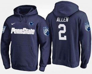 #2 Mens Marcus Allen College Hoodie Navy Penn State Nittany Lions