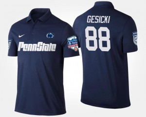 #88 Mens Penn State Nittany Lions Fiesta Bowl Navy Mike Gesicki College Polo Bowl Game