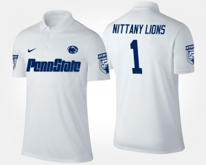 #1 Men No.1 Short Sleeve White College Polo Nittany Lions