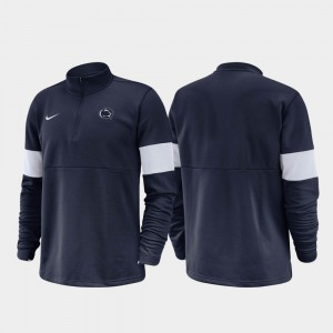 2019 Coaches Sideline Navy College Jacket Penn State For Men's Half-Zip Performance