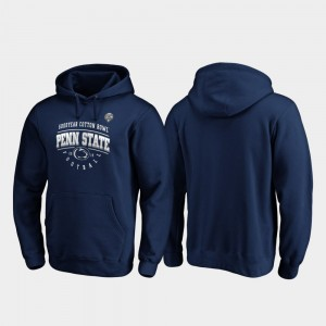 College Hoodie Tackle Navy For Men 2019 Cotton Bowl Bound Nittany Lions
