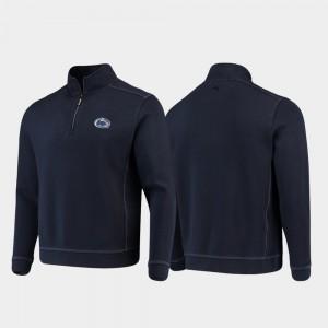 For Men's Penn State Sport Nassau College Jacket Navy Half-Zip Pullover Tommy Bahama