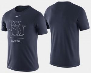 Men's Baseball Navy Dugout Performance Penn State College T-Shirt