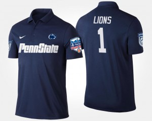 Penn State College Polo Navy No.1 Fiesta Bowl For Men's Bowl Game #1