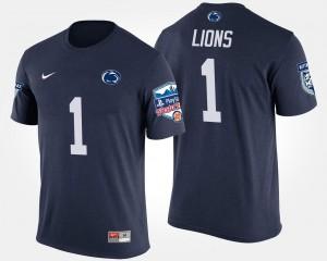 Penn State No.1 Fiesta Bowl #1 Navy Men Bowl Game College T-Shirt