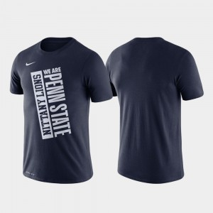Basketball Performance Navy College T-Shirt For Men Just Do It Nittany Lions