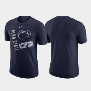 College T-Shirt Men Just Do It Navy Performance Cotton PSU