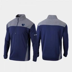 College Jacket Omni-Wick Standard Quarter-Zip Pullover For Men's Navy Nittany Lions