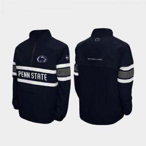Alpha Windshell Pullover Navy Nittany Lions College Jacket For Men's Quarter-Zip
