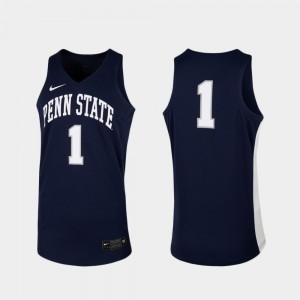 #1 Basketball Navy Replica PSU Men's College Jersey