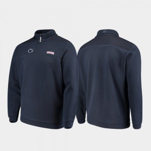 Quarter-Zip Men Navy PSU College Jacket Shep Shirt