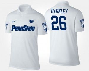 #26 White Penn State Nittany Lions Saquon Barkley College Polo For Men