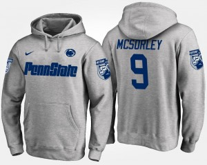 #9 Trace McSorley College Hoodie Mens Gray Penn State Nittany Lions