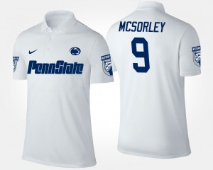 #9 White Nittany Lions Men's Trace McSorley College Polo