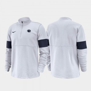 White Penn State For Men's 2019 Coaches Sideline Half-Zip Performance College Jacket