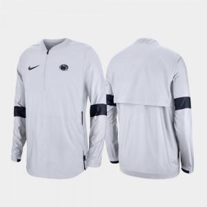 Penn State College Jacket Quarter-Zip Men White 2019 Coaches Sideline