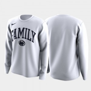 Family on Court March Madness Legend Basketball Long Sleeve College T-Shirt Men White Nittany Lions