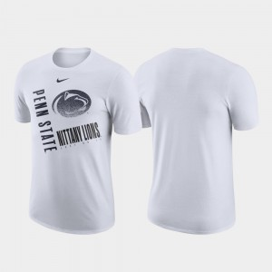 College T-Shirt Men Performance Cotton Penn State Just Do It White