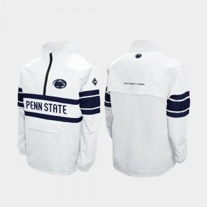 Quarter-Zip Penn State Alpha Windshell Pullover White College Jacket Men's