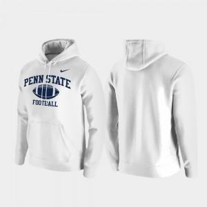 College Hoodie White Retro Football Club Fleece Penn State For Men