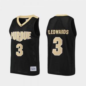 Alumni Black #3 Purdue Purdue Boilermaker Basketball For Men's Carsen Edwards College Jersey