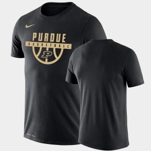 College T-Shirt Performance Basketball Purdue Black Drop Legend Mens