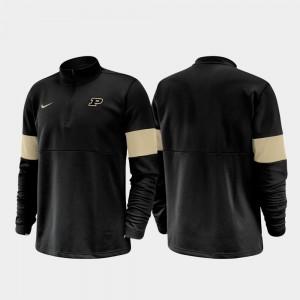 Purdue Black 2019 Coaches Sideline Half-Zip Performance Men College Jacket