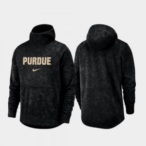 For Men College Hoodie Black Purdue Boilermakers Spotlight Basketball Team Logo Pullover