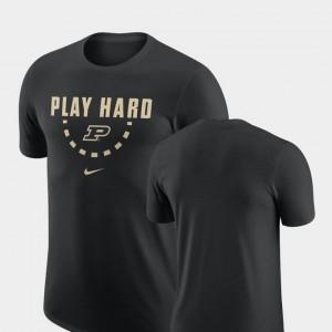 Boilermaker Black College T-Shirt Basketball Team Men's