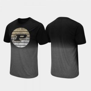 Dip Dye For Men's College T-Shirt Purdue Fancy Walking Black