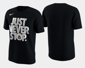 March Madness Selection Sunday Black Basketball Tournament Just Never Stop Purdue Boilermakers College T-Shirt Mens