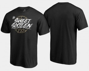 Mens Sweet 16 Bound College T-Shirt Purdue Black 2018 March Madness Basketball Tournament Backdoor