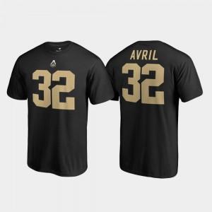 Men Cliff Avril College T-Shirt Legends Name & Number #32 Purdue Black
