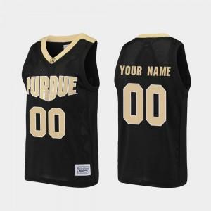 Alumni Purdue University Men's College Custom Jersey #00 Basketball Black