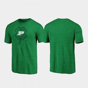 Men's College T-Shirt Boilermaker St. Patrick's Day Green Celtic Charm Tri-Blend