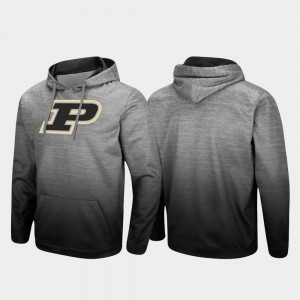 Heathered Gray College Hoodie For Men Pullover Sitwell Sublimated Purdue