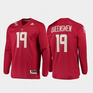 150th Anniversary For Men's Strategy Long Sleeve Football Rutgers Scarlet College Jersey #19