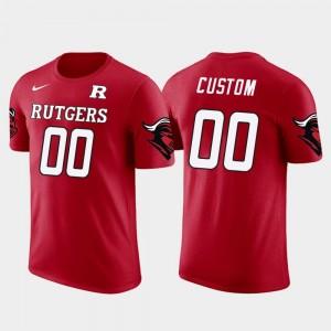 Men Rutgers University College Customized T-Shirt Red Future Stars Cotton Football #00