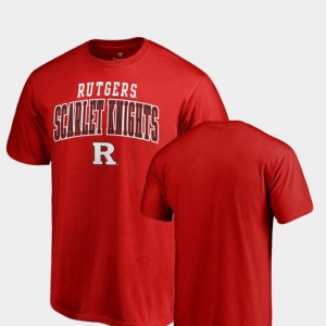 For Men Rutgers Square Up College T-Shirt Scarlet