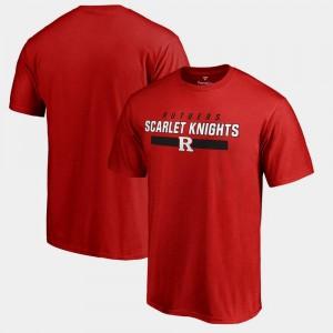 College T-Shirt Team Strong For Men Scarlet Scarlet Knights