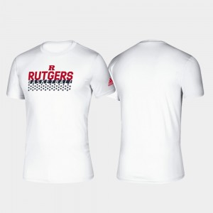 Rutgers University For Men White Climalite College T-Shirt Basketball Salute to Service