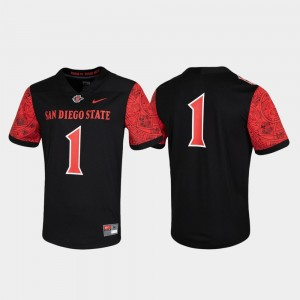 Aztecs #1 Game College Jersey Untouchable For Men Black