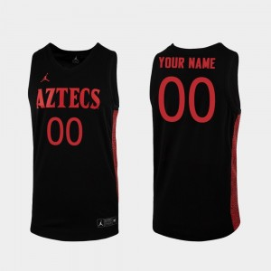 #00 Basketball Replica Mens College Customized Jersey Black San Diego State