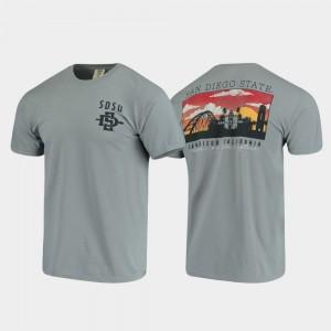 Campus Scenery Gray Comfort Colors Aztecs College T-Shirt Men