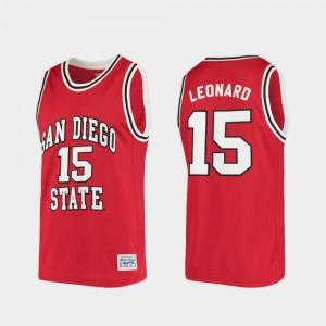 Alumni Red For Men Kawhi Leonard College Jersey #15 San Diego State Aztecs Basketball