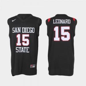 Basketball Black Kawhi Leonard College Jersey Men's San Diego State Aztecs #15 Authentic