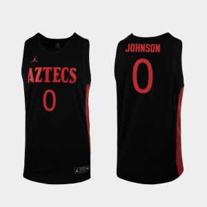 Replica Black 2019-20 Basketball Mens San Diego State #0 Keshad Johnson College Jersey