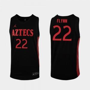 Mens Aztecs Malachi Flynn College Jersey Replica #22 2019-20 Basketball Black
