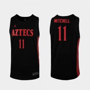 Men's San Diego State Aztecs Black 2019-20 Basketball Replica Matt Mitchell College Jersey #11
